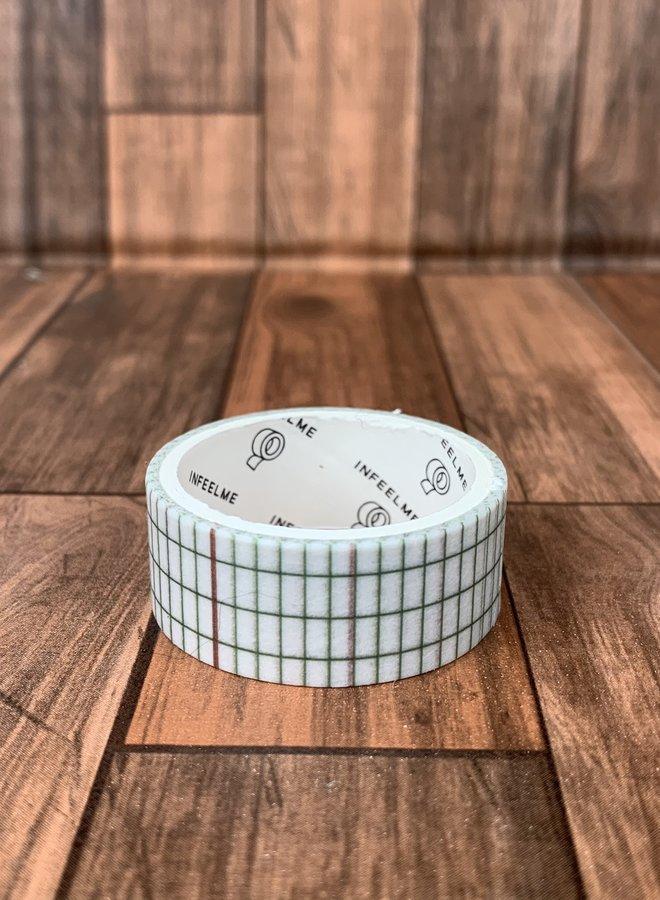 Washi tape | Groene schoolboek strepen