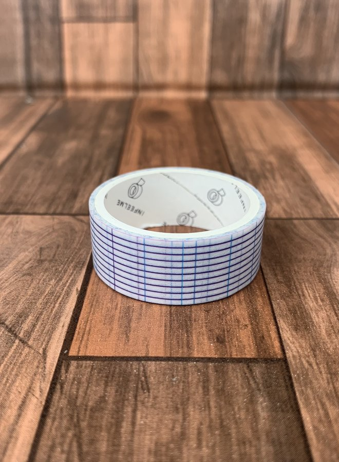 Washi tape | Blauwe schoolboek strepen
