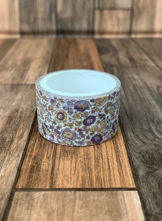Washi tape | Ouderwetse bloemen - Breed