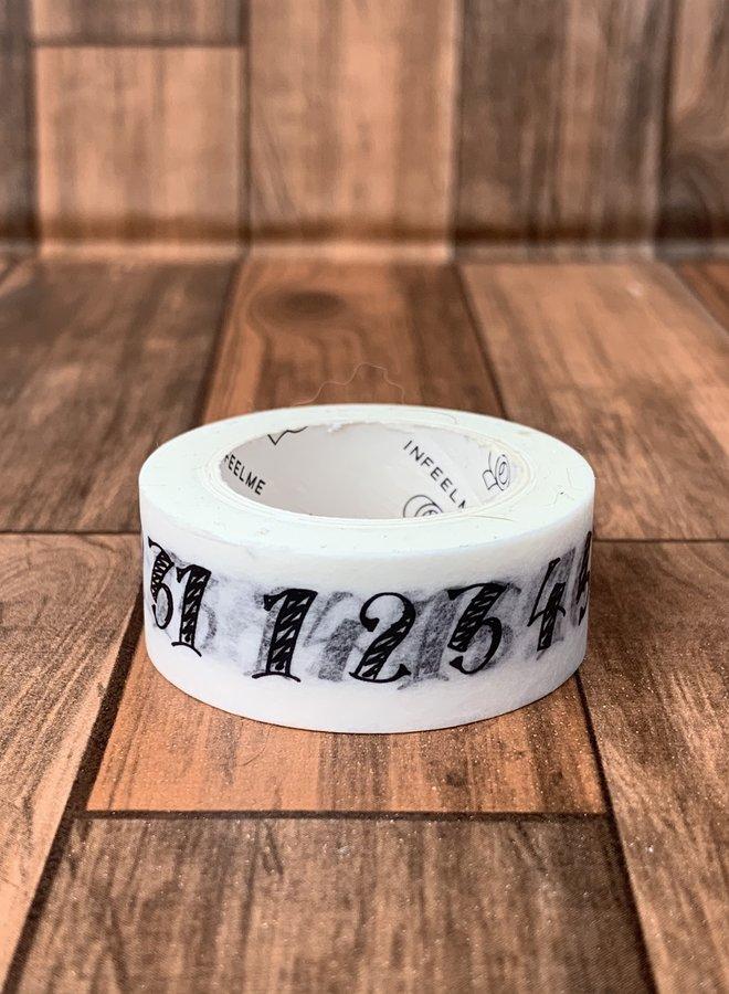 Washi tape   Cijfers