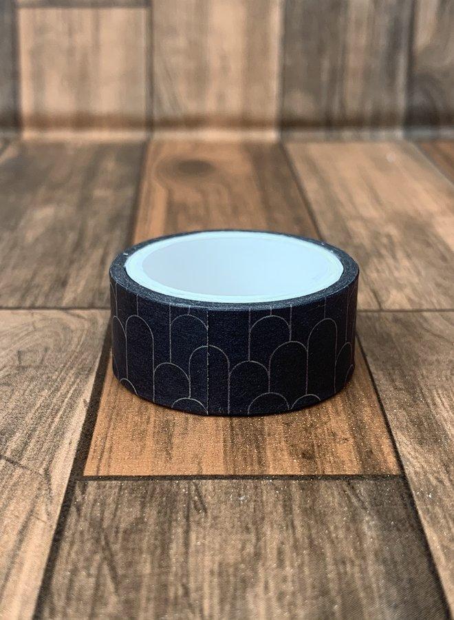 Washi tape   Zwarte boogjes - breed