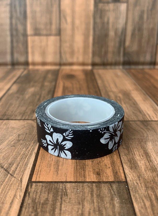Washi tape | Hawaii black flower
