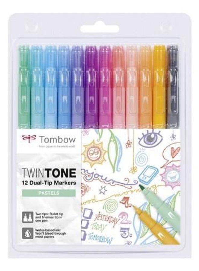 Tombow | TwinTone pastelkleuren - 12st set