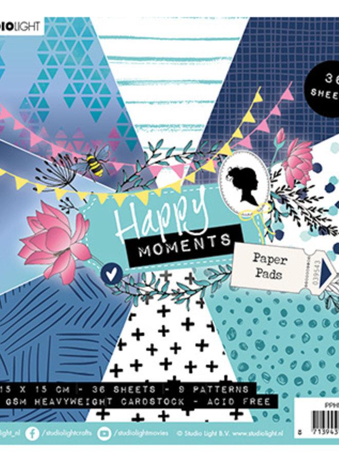 Studio Light | Paper pad Happy moments blue