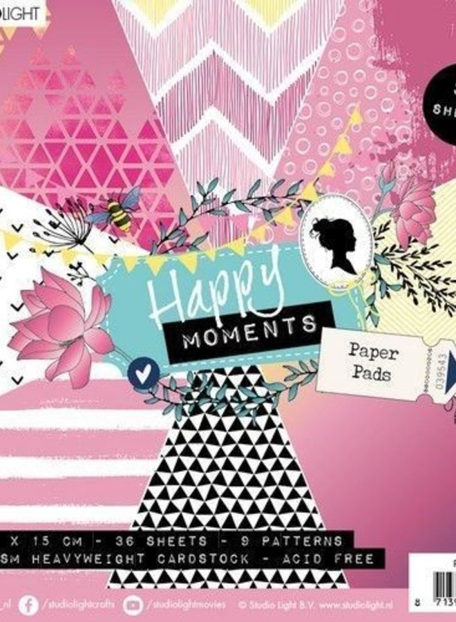 Studio Light | Paper pad Happy moments pink