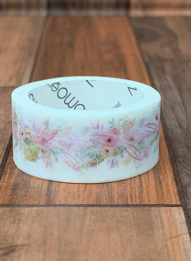 Washi tape I Roze bloemen