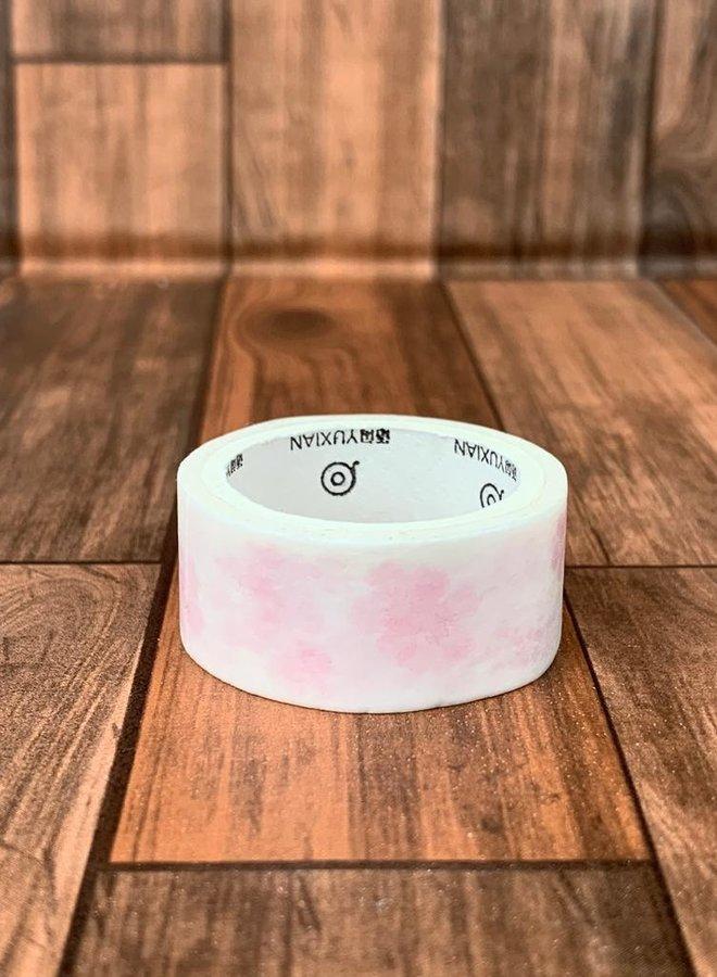 Washi tape I Roze blauwe text