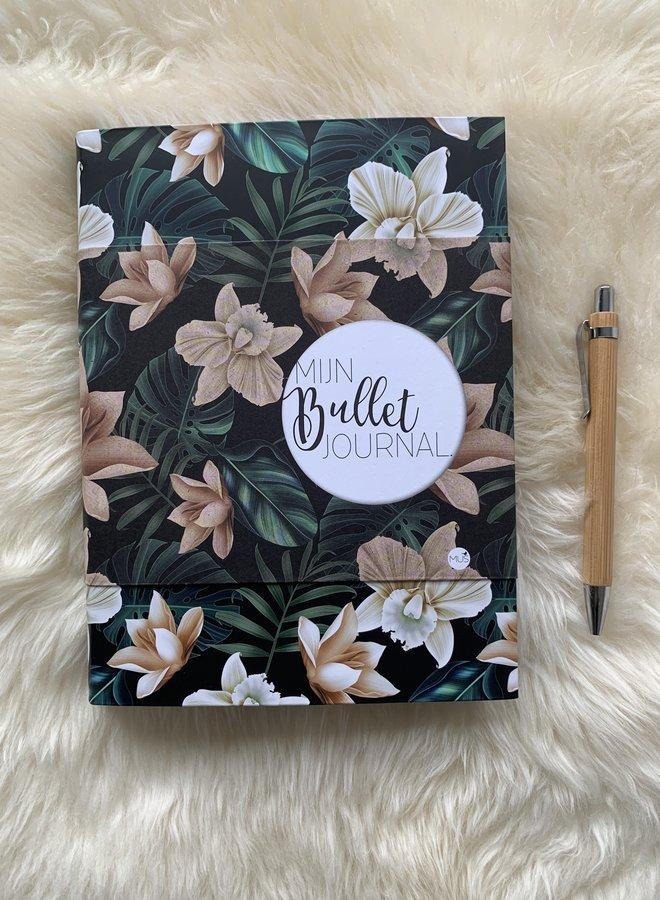 Mijn Bullet Journal   Black flowers