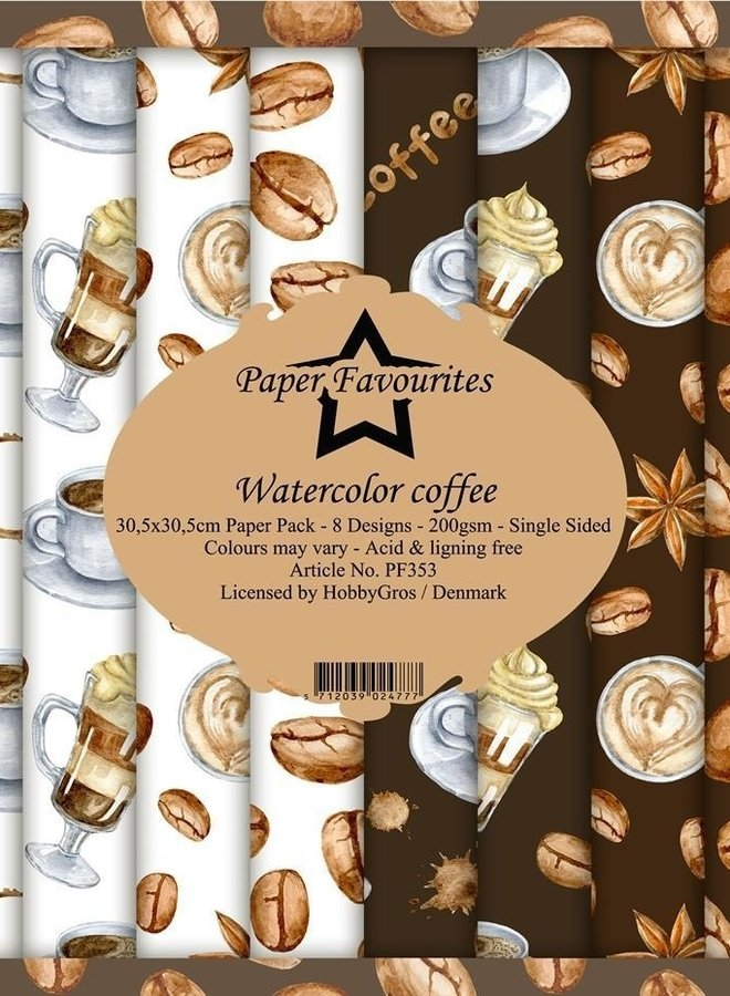 Paper favourites   Watercolor coffee