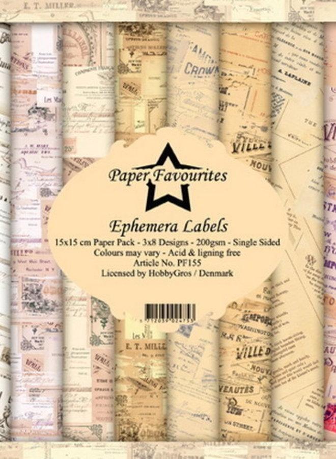 Paper favourites   Ephemera labels