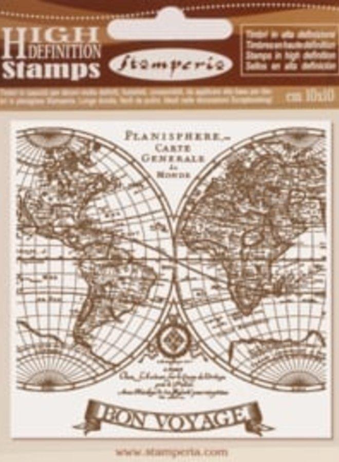 Stamperia | Bon voyage rubber stampel