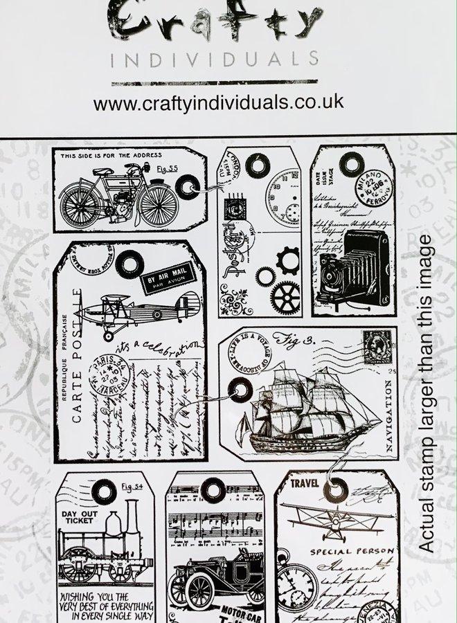 Crafty individuals | Vintage labels rubber stempels  - 428