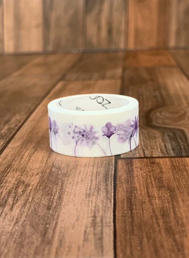 Washi tape   Paars bloemenveld