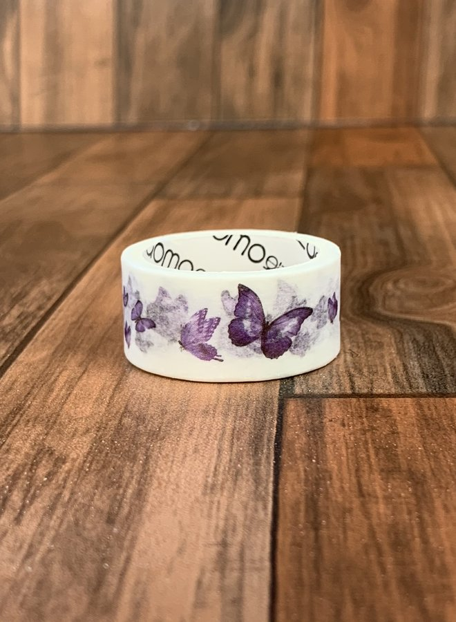 Washi tape | Paarse vlinders
