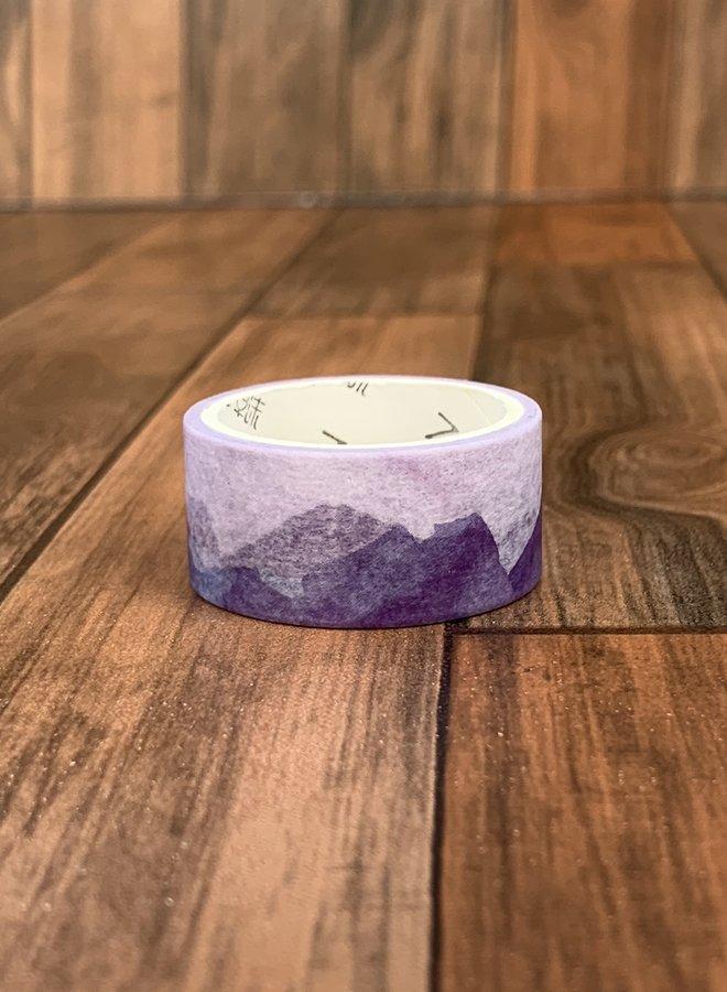 Washi tape | Paarse bergen