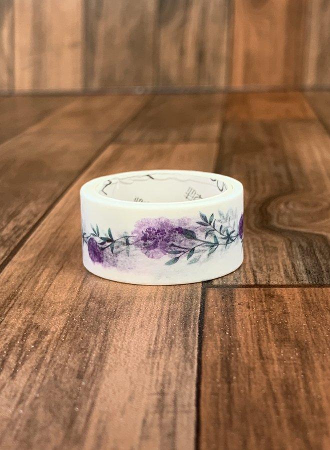 Washi tape   Paarse bloem klimop