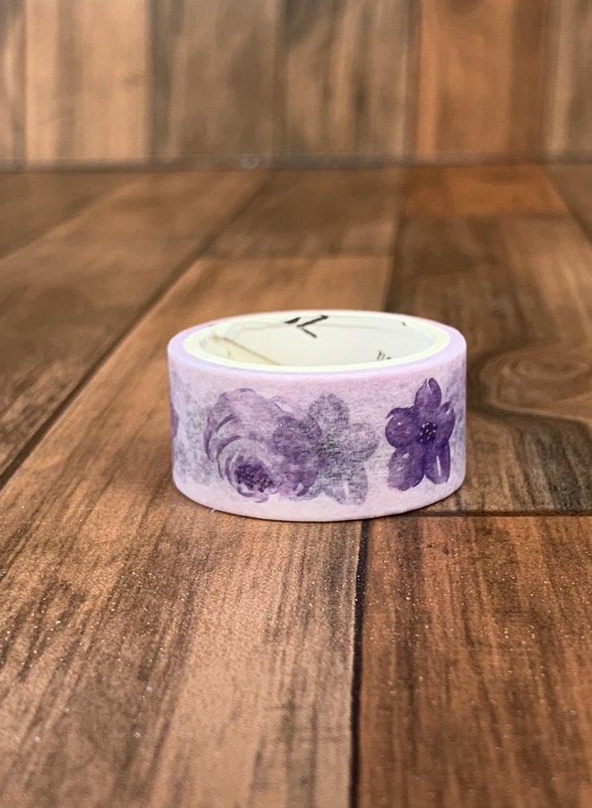 Washi tape   Paarse rozen  - Copy