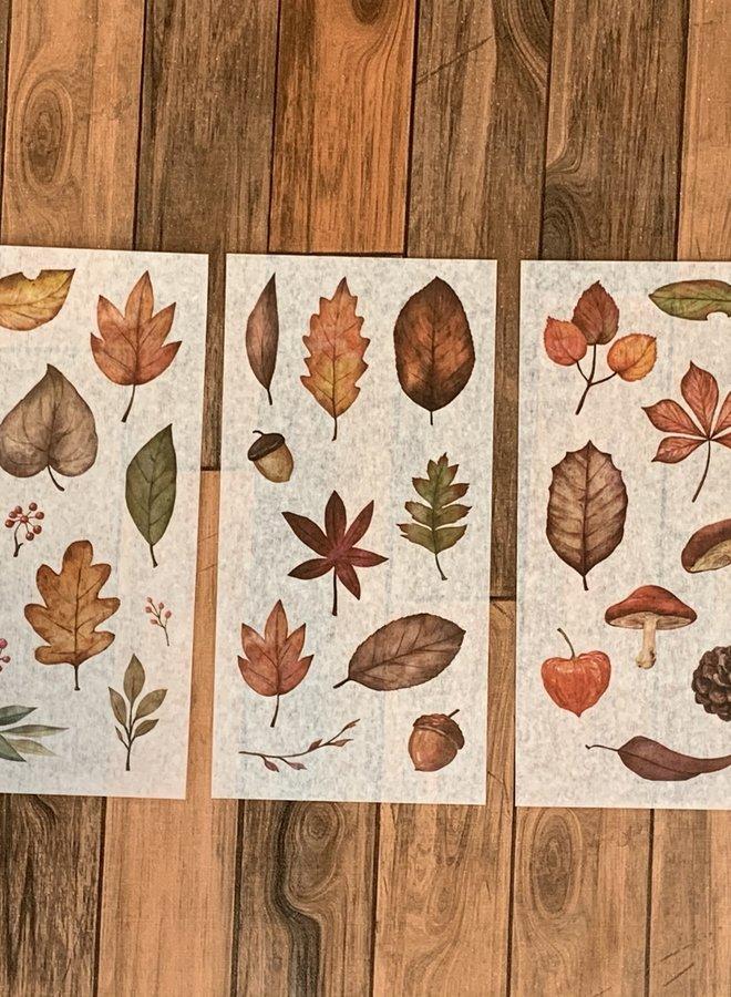 Stickers I Herfst blad stickervel