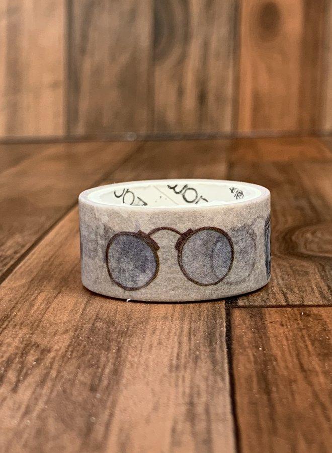 Washi tape | Vintage bril beijge