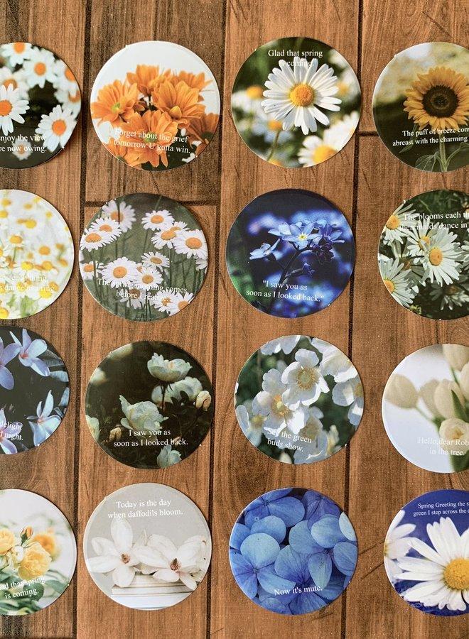 Stickers | Ronde bloemen
