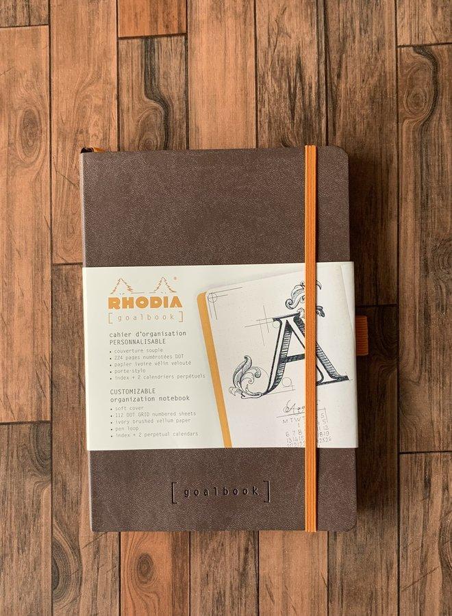 Rhodia goalbook | Donker bruin