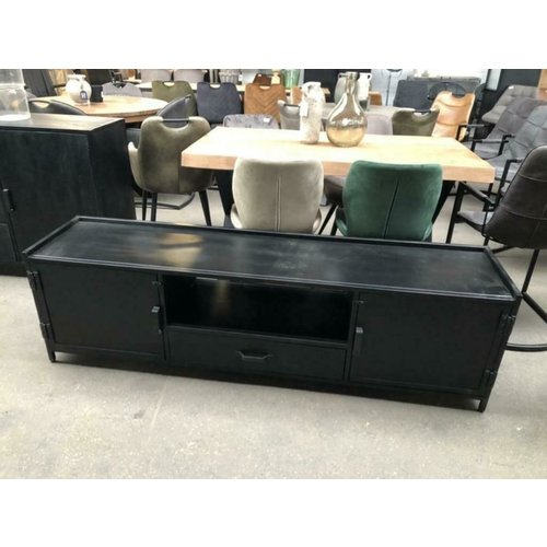 TV meubel metaal zwart 180