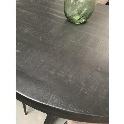 Ronde bartafel zwart