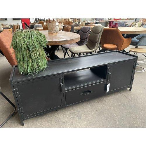 TV meubel metaal zwart 150