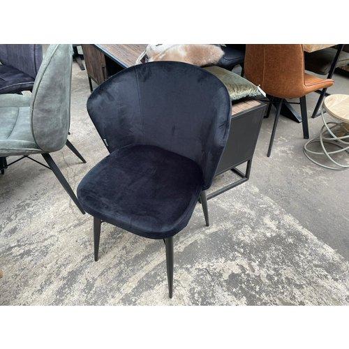 Stoel LAB50 - zwart fluweel