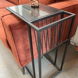 bijzettafel sofa marmer Black Black