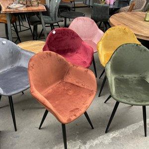 Eetstoel LAB40 -7 kleuren velvet