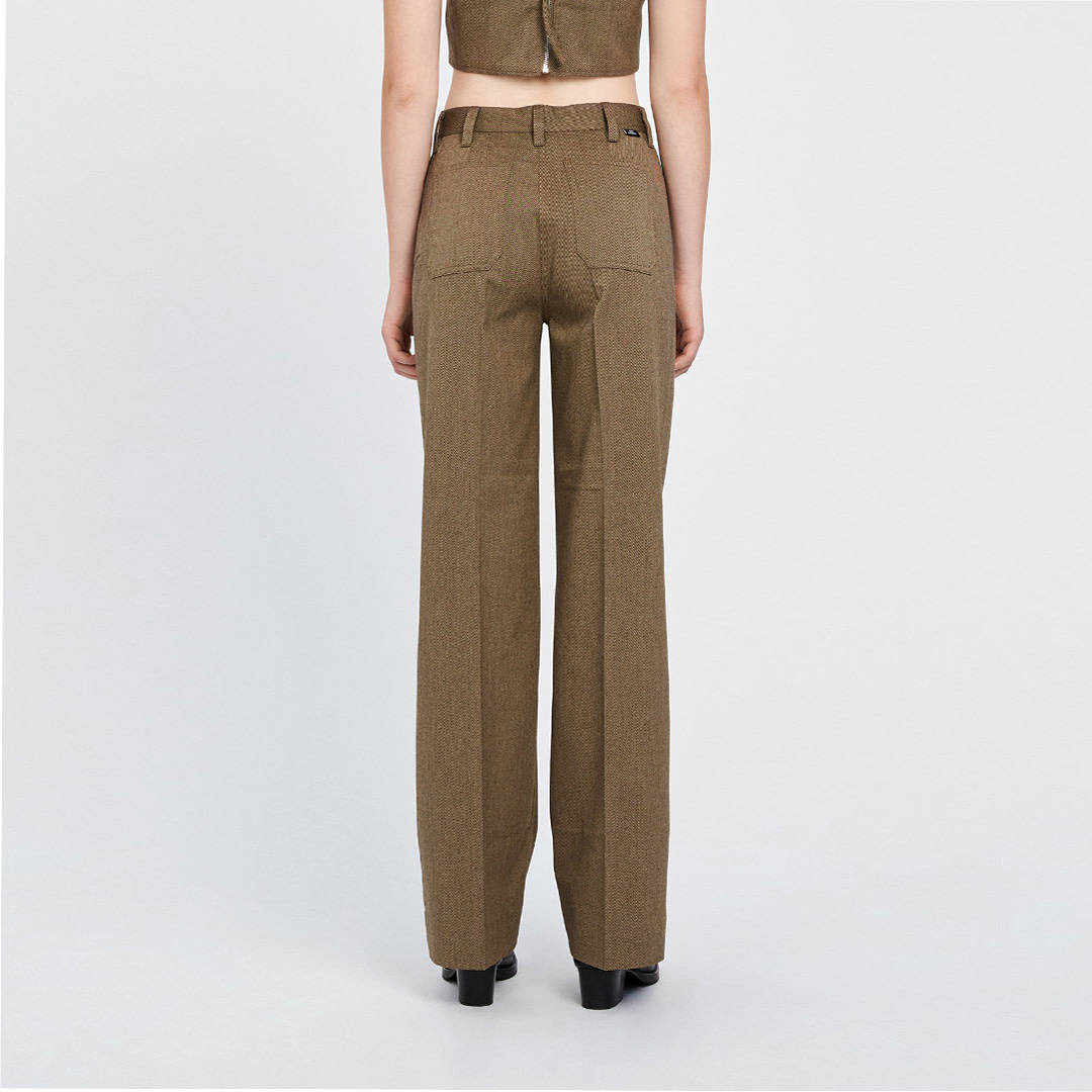 Kelis Trousers - Brown Melange-2