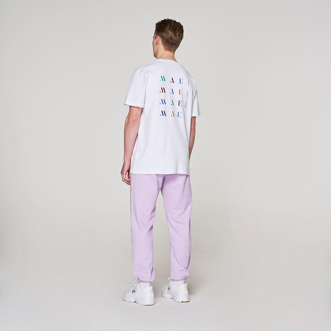 Blue Crown + Back Logo T-shirt -  White-2