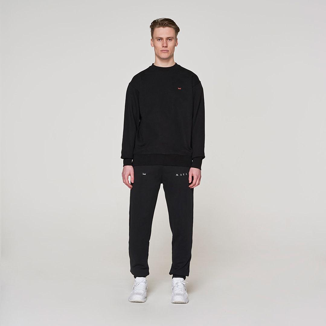 Backprint Sweater -  Black-1