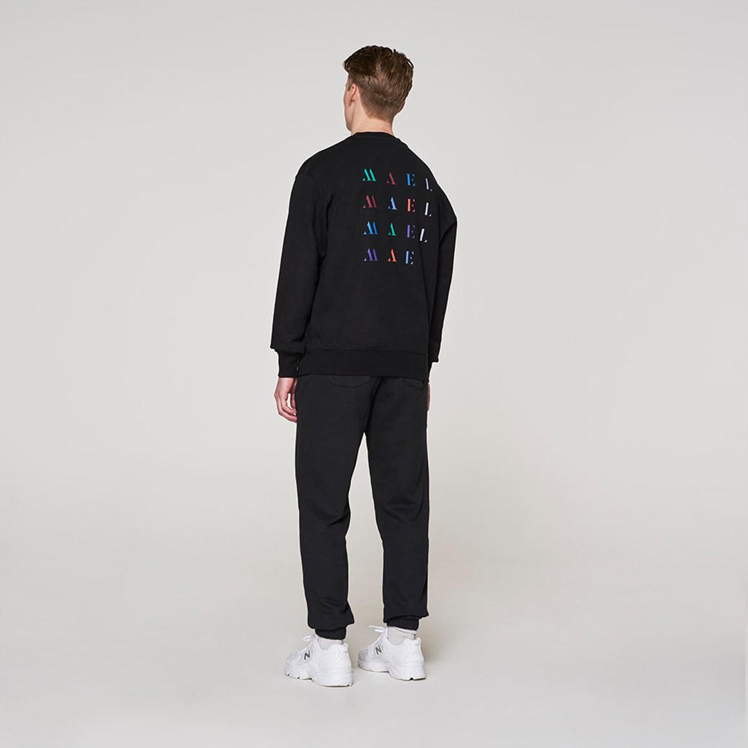 Backprint Sweater -  Black-2