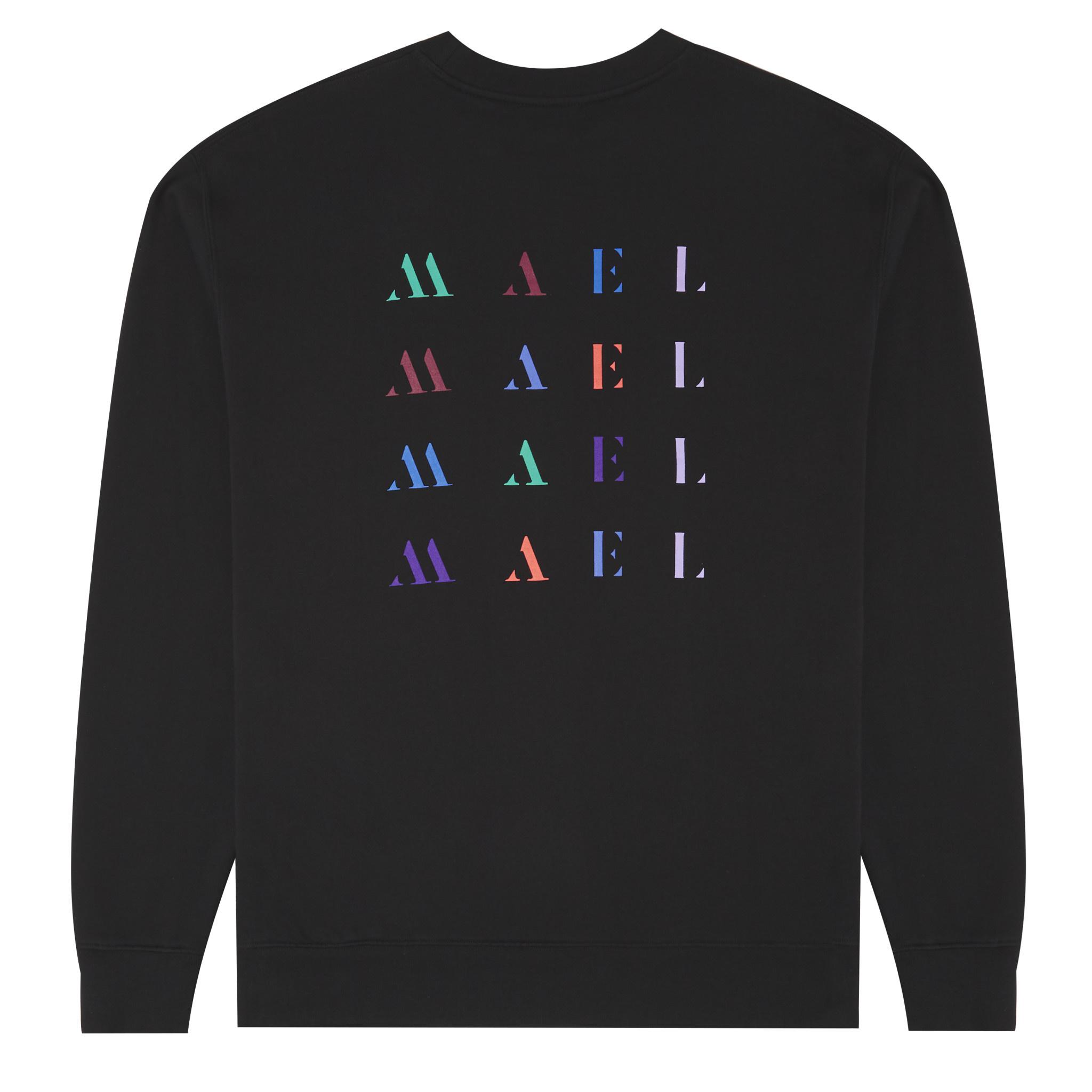 Backprint Sweater -  Black-3