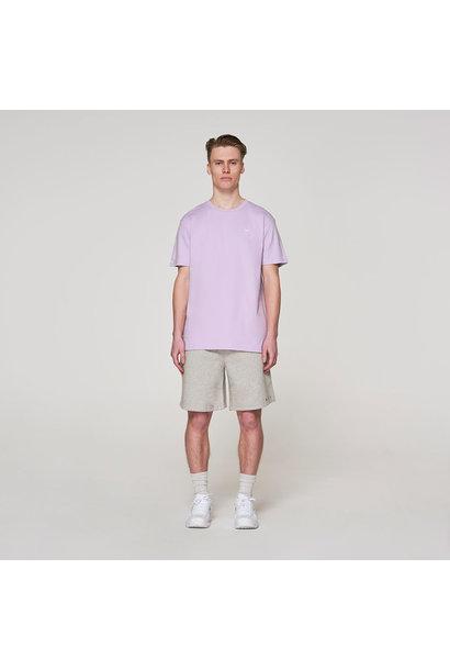 White Crown + Back Logo T-shirt - Violet