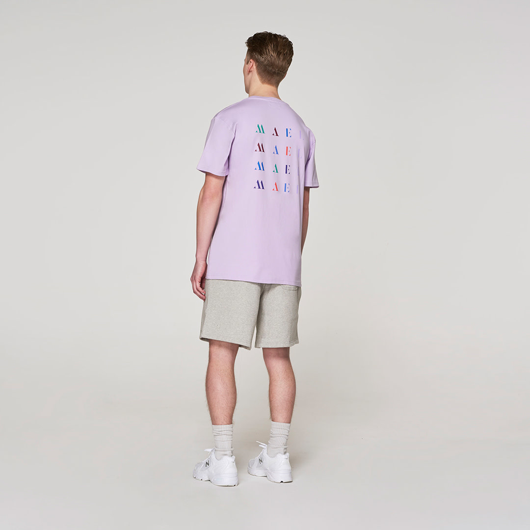 White Crown + Back Logo T-shirt - Violet-2