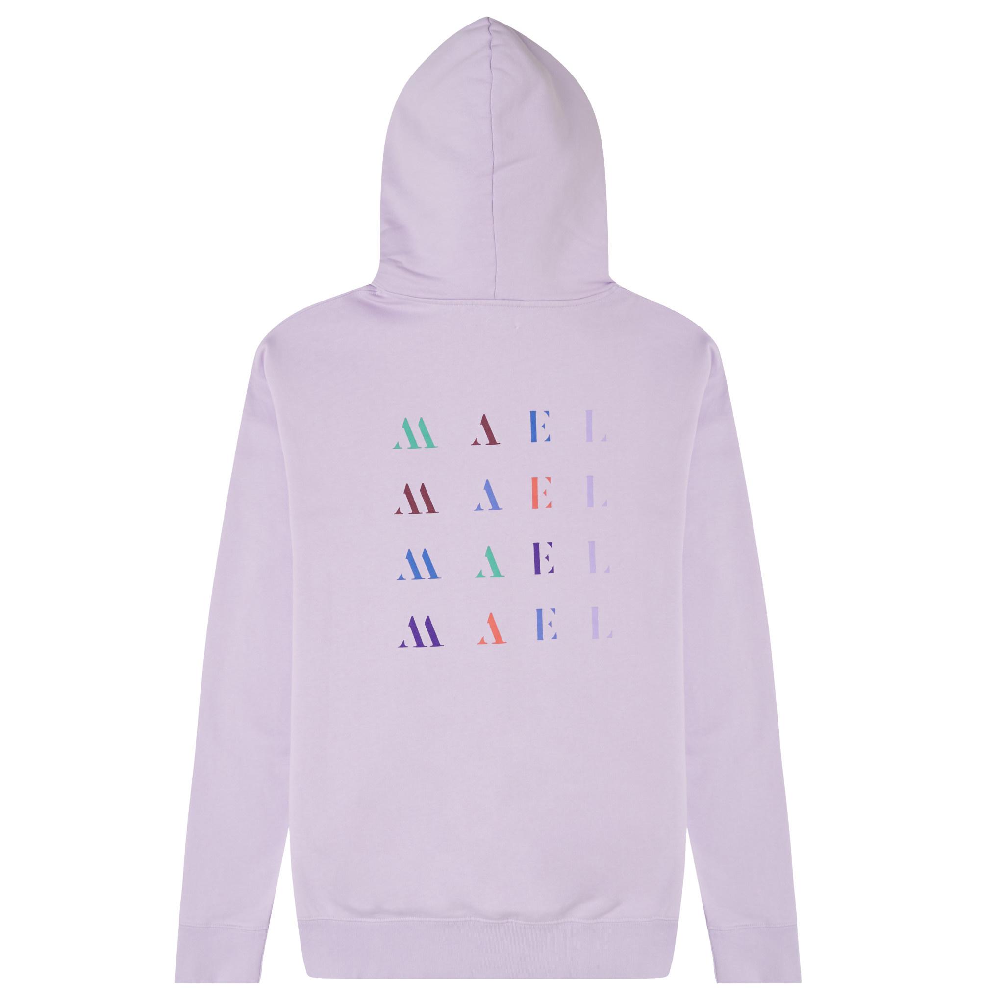 White Crown + Back Logo Hoodie -  Violet-3