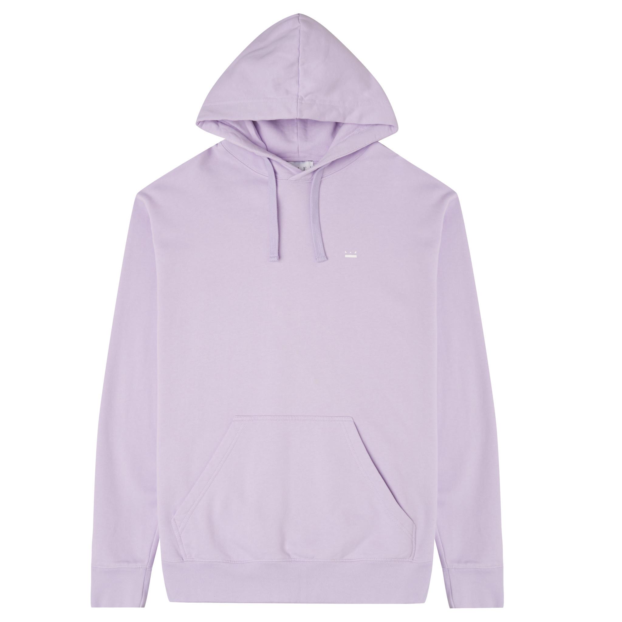White Crown + Back Logo Hoodie -  Violet-4