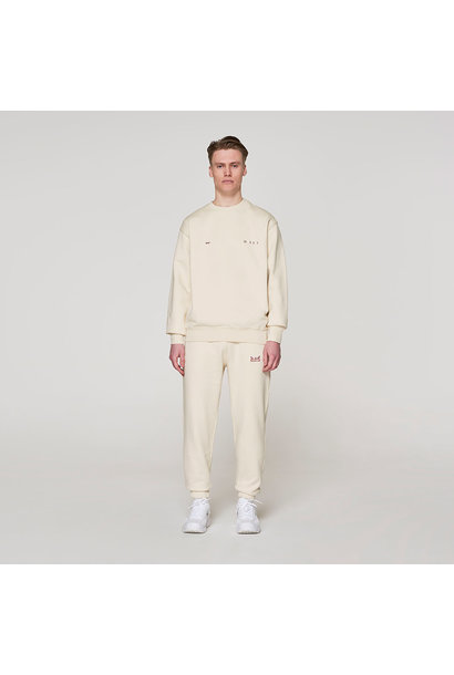 Red Crown + Name Sweater -  Off White