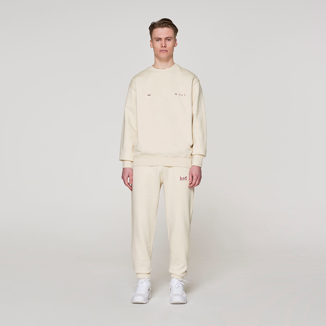 Red Crown + Name Sweater -  Off White-1