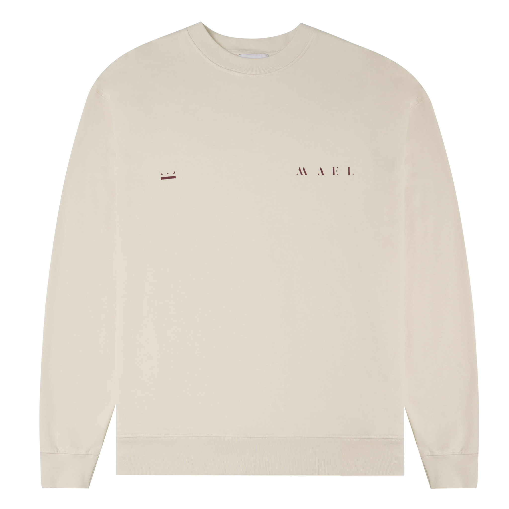 Red Crown + Name Sweater -  Off White-4