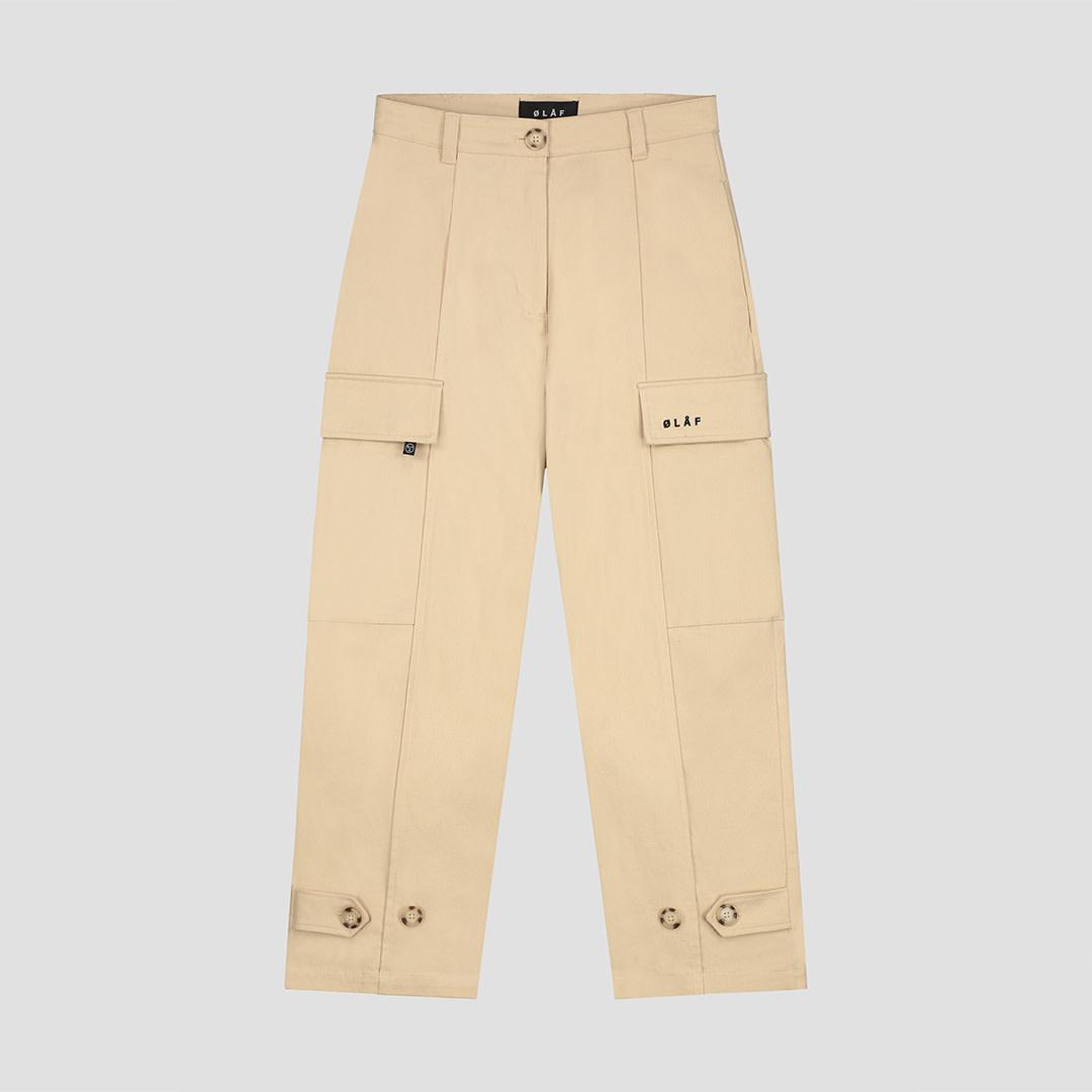 Cargo Pants - Beige-1