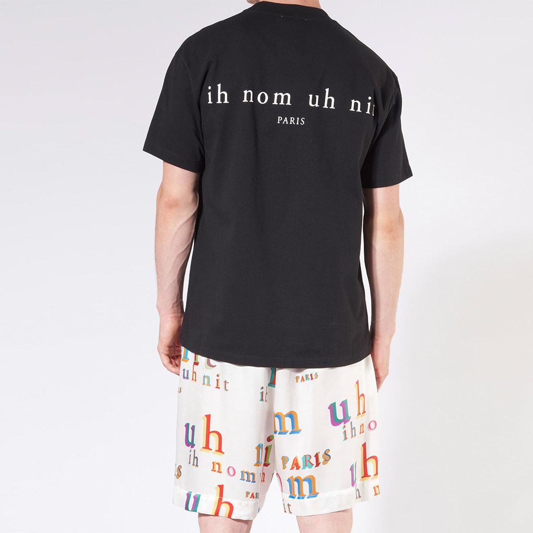 Logo Print T-shirt - Black-2