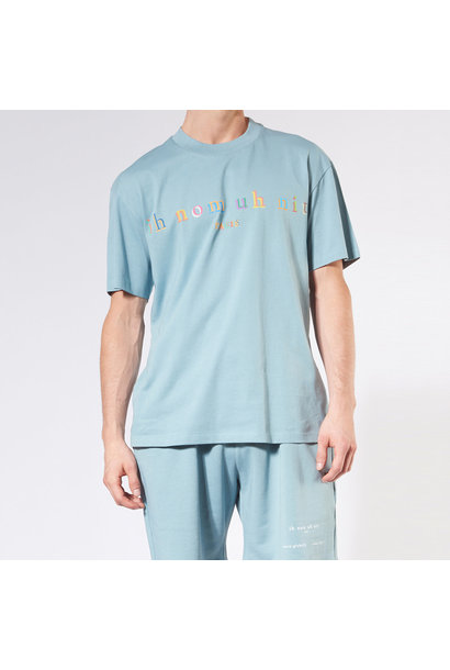 Rainbow Logo T-shirt - Blue