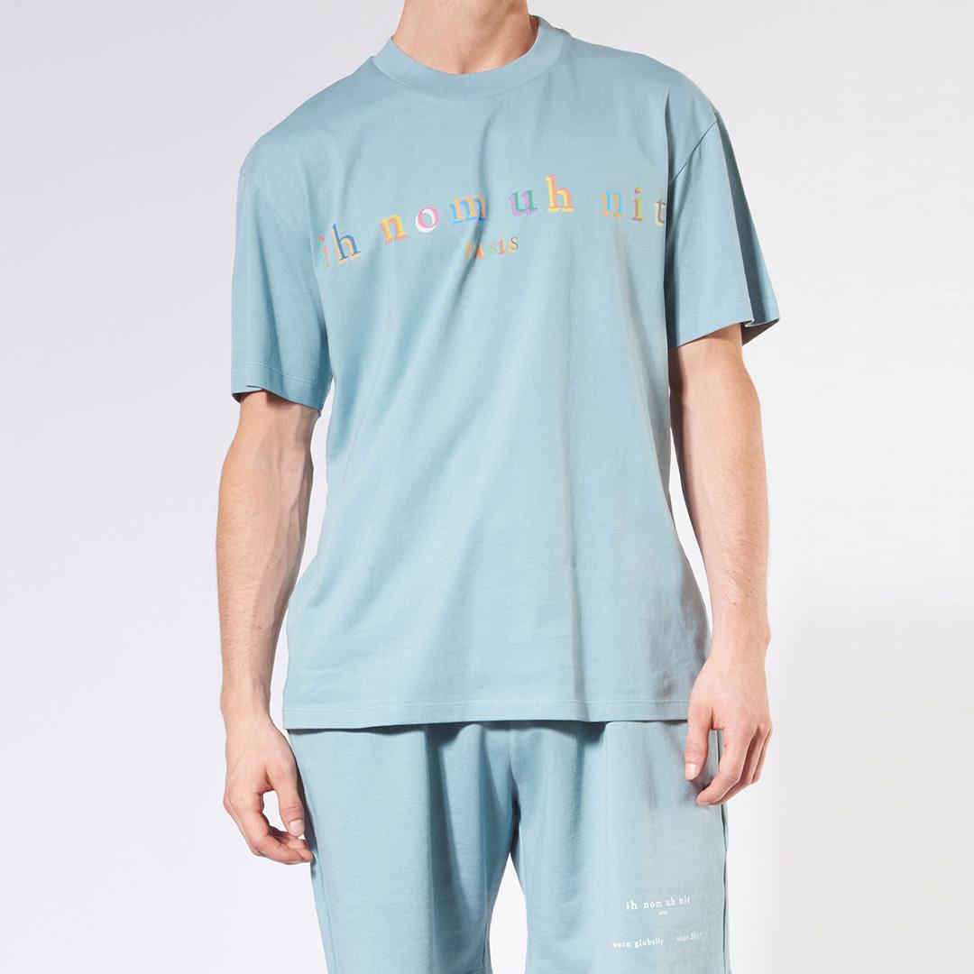 Rainbow Logo T-shirt - Blue-1
