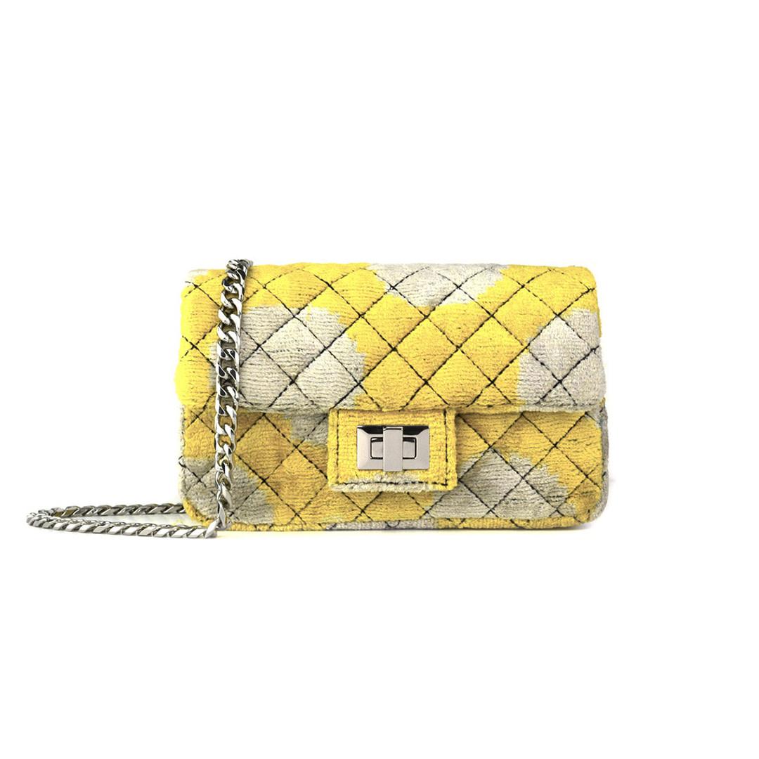 Mini Velvet Bandita - Yellow-Beige-1