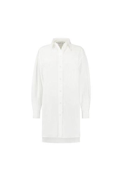 Alexis Blouse Dress - White