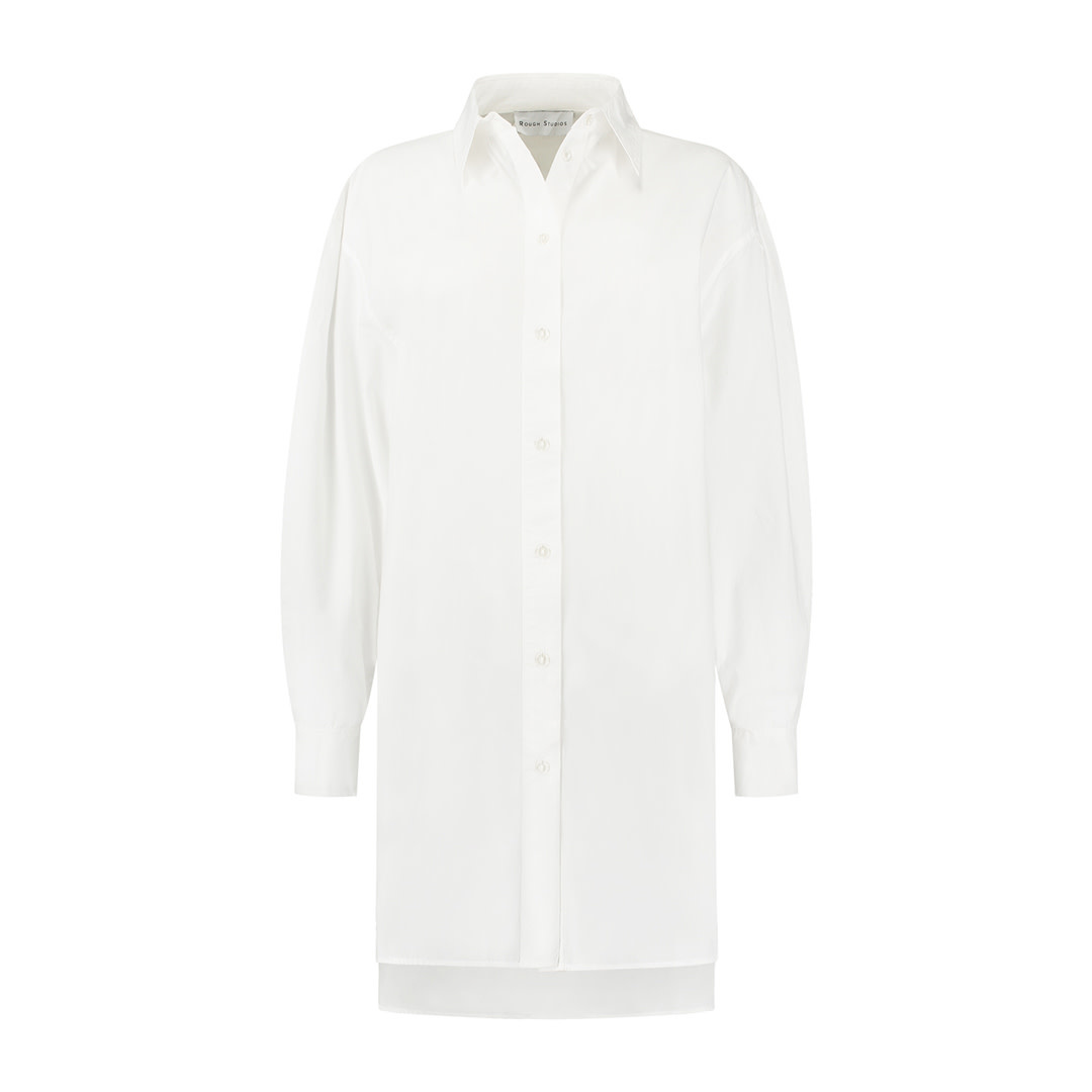 Alexis Blouse Dress - White-1